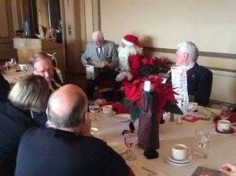 Dave Wightman & Santa - RRU Luncheon Dec 2015