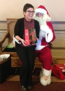 Stella Garcia with Santa 2016